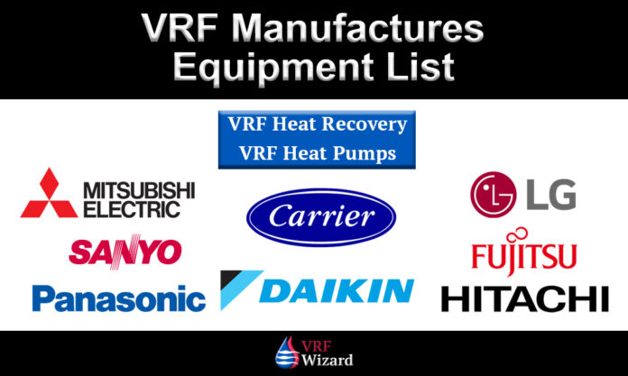 VRF Manufactures List