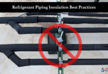 Refrigerant piping Insulation Best practices