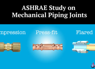 ASHRAE Study on Mechanical Piping Joints
